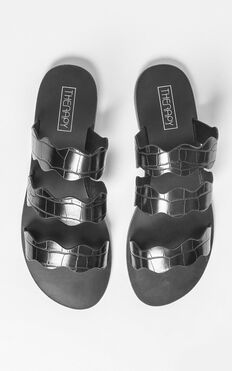 Therapy - Corbin Sandals In Black Croc