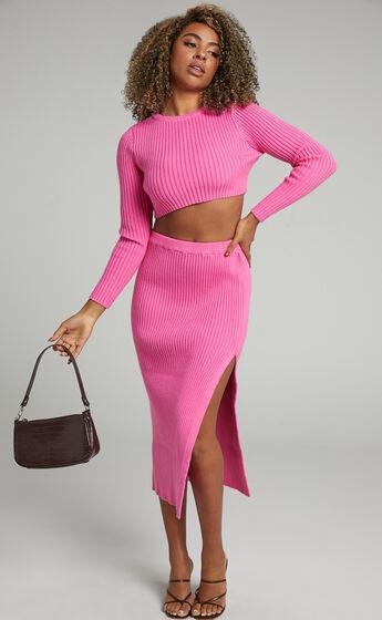 Kodah Knit Skirt in Hot Pink