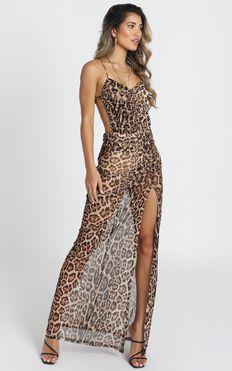 Texas Maxi Dress In Leopard Print