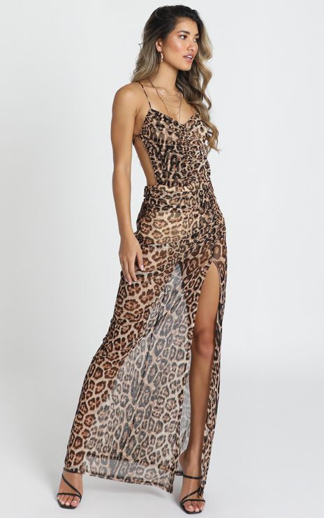 Texas Maxi Dress In Leopard Print
