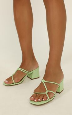 Therapy - Stella Heels In Sage