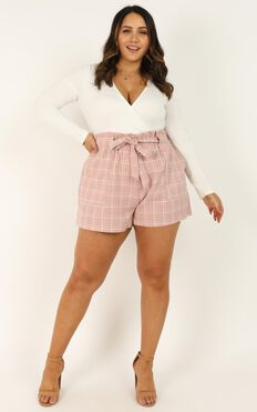All Rounder Shorts In Blush Check