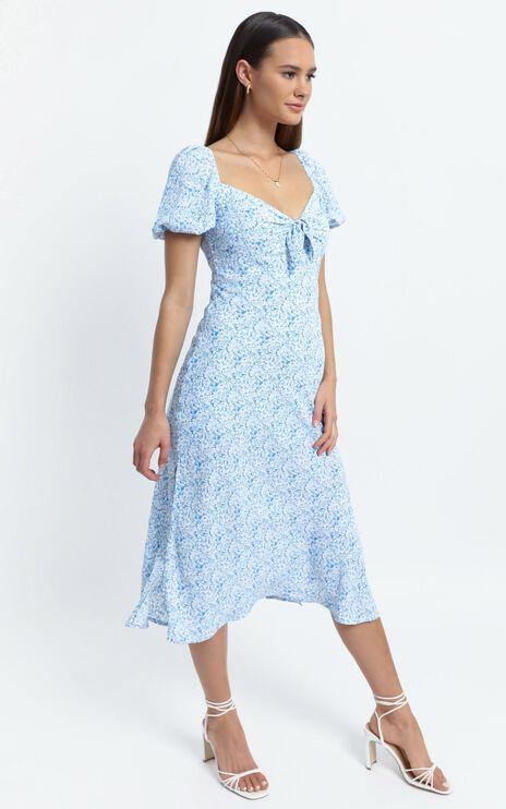 Brady Dress in Blue Floral