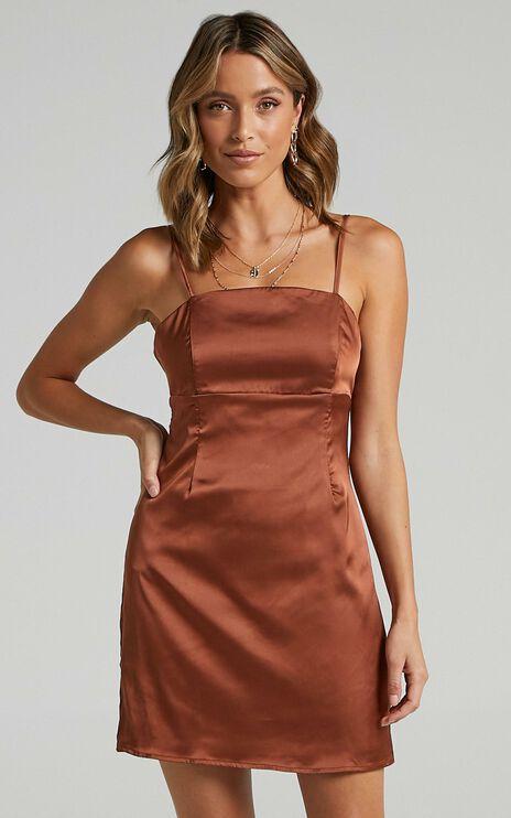 Stefanie Dress in Chocolate