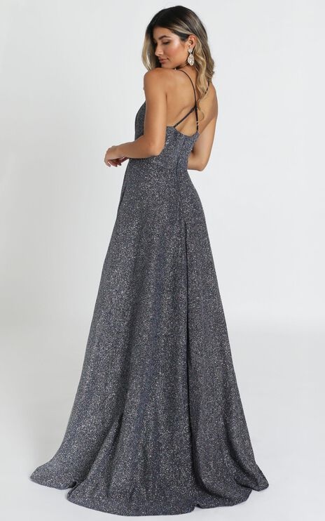 Climb A Mountain Maxi Dress In Navy