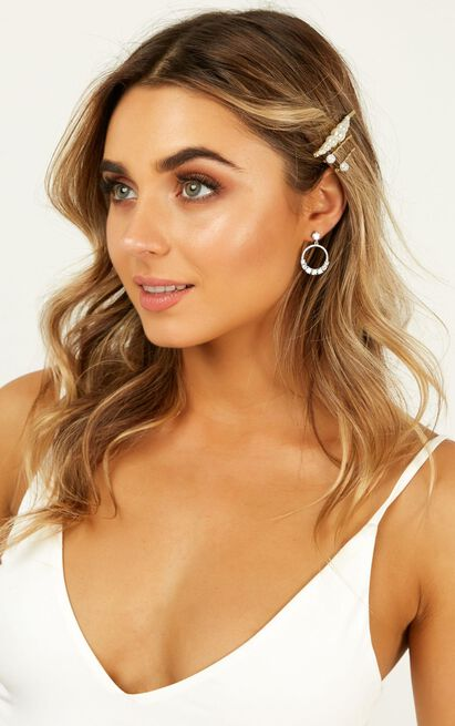 Take It Back Hair Pin Set In Gold, , hi-res image number null