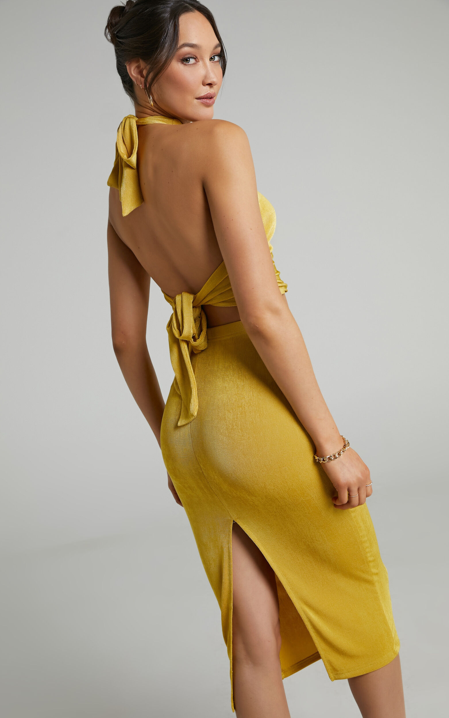 She.Is.Us - On Demand Skirt in Butterscotch - L, YEL1, super-hi-res image number null
