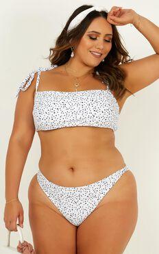 Lilah Bikini Bottoms In White Spot