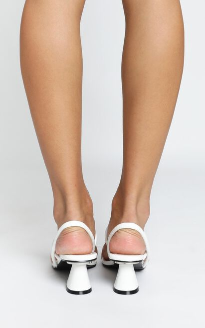Therapy - Betta Heels in white croc - 10, White, hi-res image number null