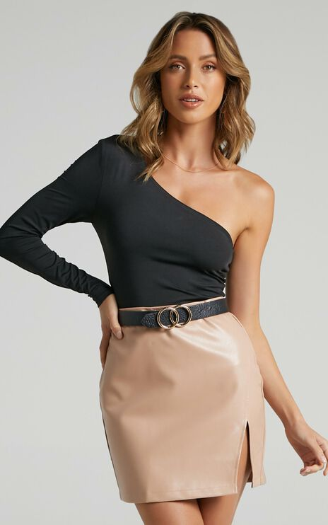 In The Name Of Love skirt Nude Leatherette