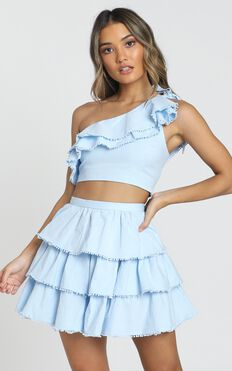 Rooftop Spritz Two Piece Set In Powder Blue
