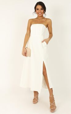 Wouldnt Change A Thing Dress In White