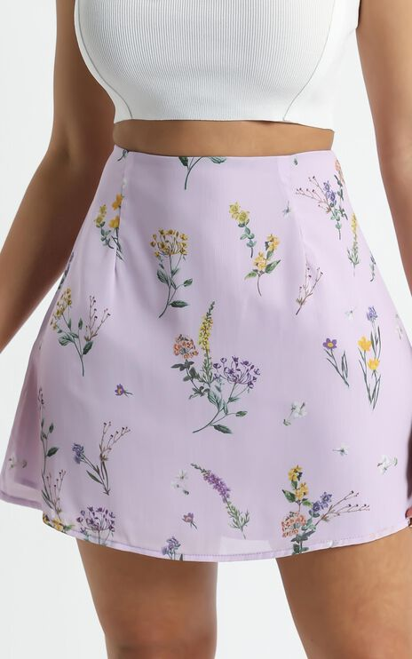 Only Offer Skirt in Lavender Botanical Floral