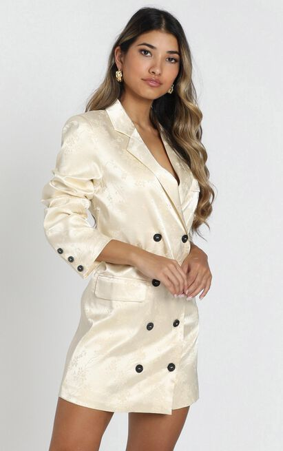 Lioness - Moulin Rouge Blazer Dress in cream - 12 (L), Cream, hi-res image number null