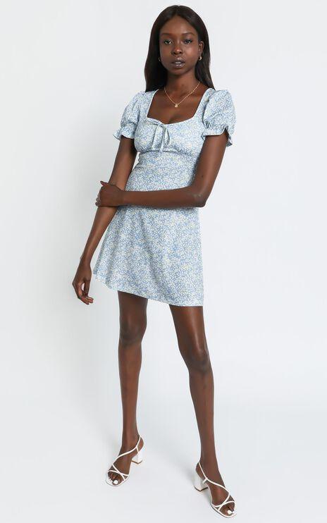 Beau Dress in Blue Floral