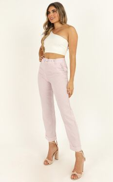 Eyes On The Road Pants In Blush Check