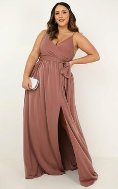 Revolve Around Me Dress In Dusty Rose