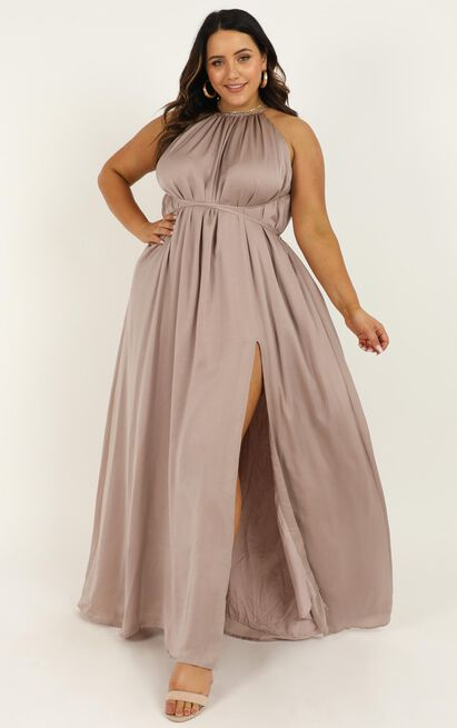 Graceful Dancer Dress in mocha - 20 (XXXXL), Mocha, hi-res image number null