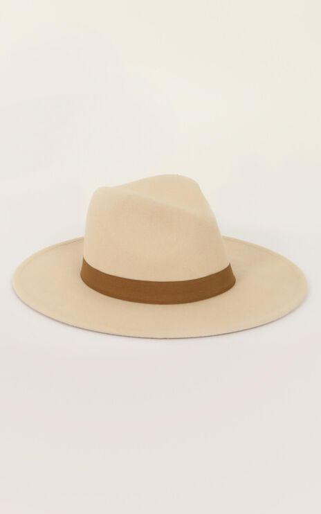 Maya Fedora Hat In Cream