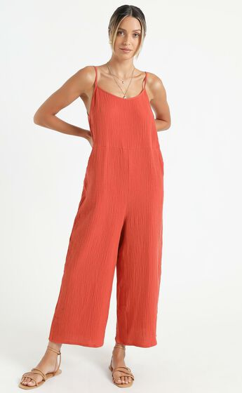 Perfect Day Jumpsuit in Rust