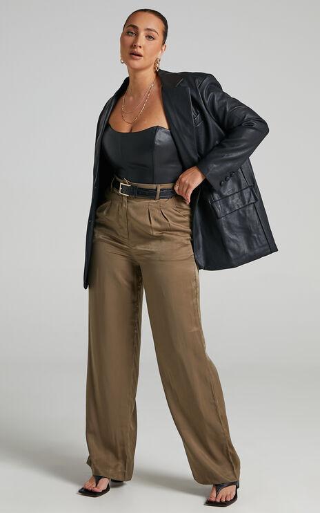 Lorrin Corset in Black Leatherette
