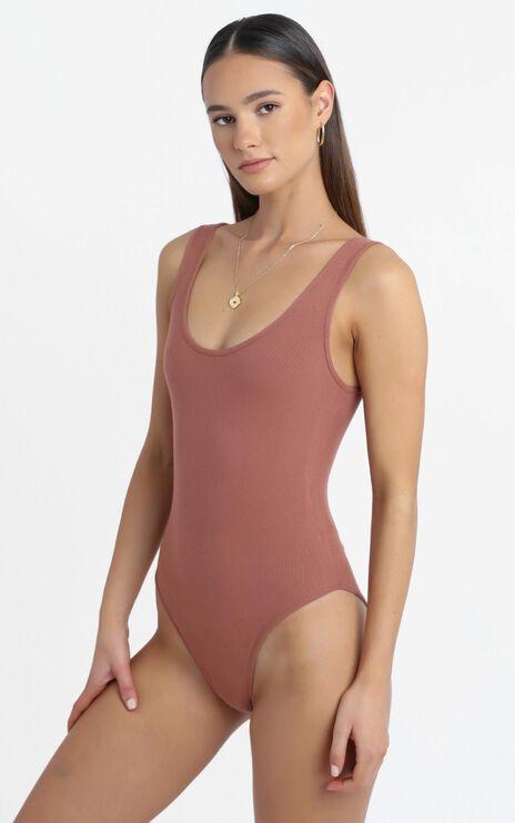 Pearce Bodysuit in Rust