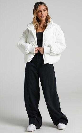 Windsor Puffer Jacket in White