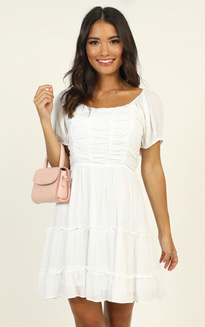 Act Natural Tiered Dress in white - 12 (L), White, hi-res image number null