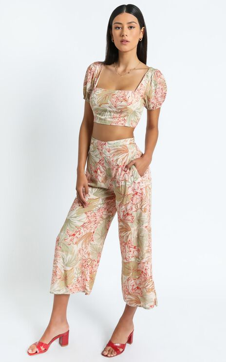 Olympia Two Piece Set in Palm Print