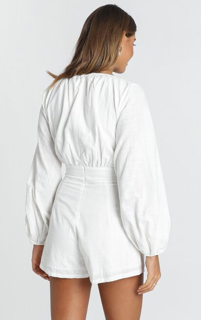 Moroccan Haze Playsuit in white - 20 (XXXXL), White, hi-res image number null