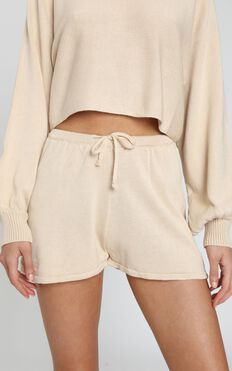 Hartley Knitted Shorts in Oatmeal