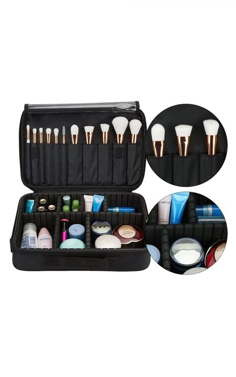 Pro Travel Makeup Case in black
