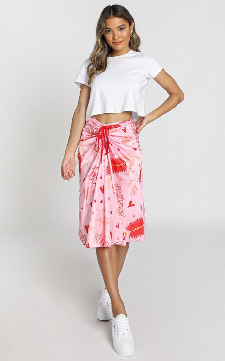 ZYA The Label - Myrtle Magic Skirt in Pink Print