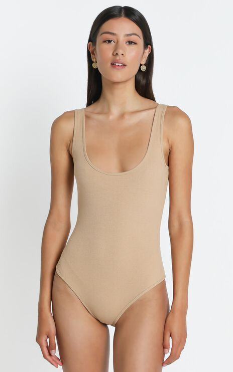 Emilie Bodysuit in Beige