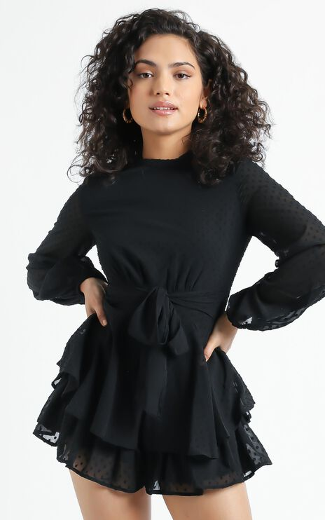 Bottom Of Your Heart Playsuit In Black