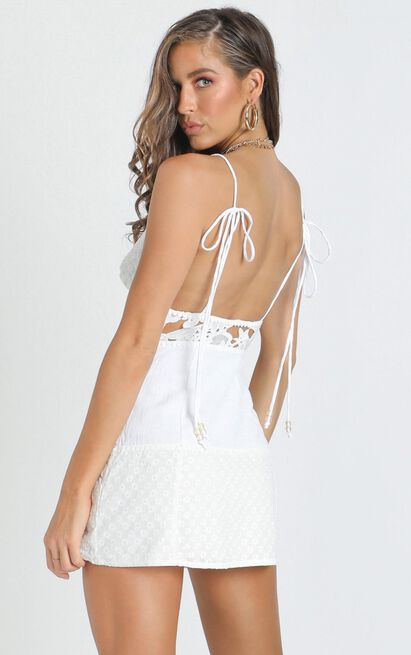 Stay Here Dress in white embroidery - 18 (XXXL), White, hi-res image number null