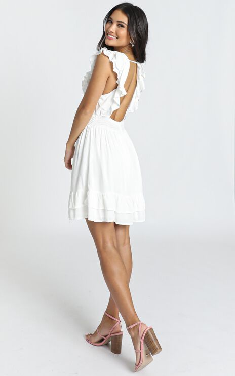 Romeo and Juliet Dress In White