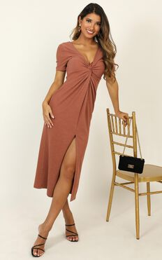 Press Rewind Dress In Dusty Rose