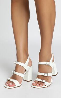 Therapy - Lynx Heels In White Croc