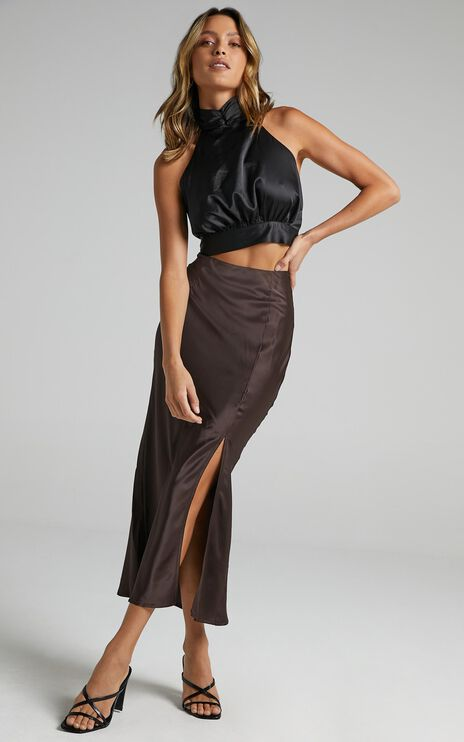 Diara Skirt in Dark Chocolate