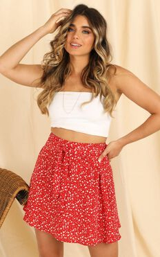 Youre The Best Skirt In Red Floral
