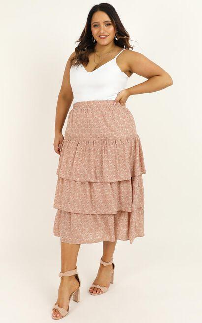 Sweet Salvation skirt in blush floral - 14 (XL), Blush, hi-res image number null