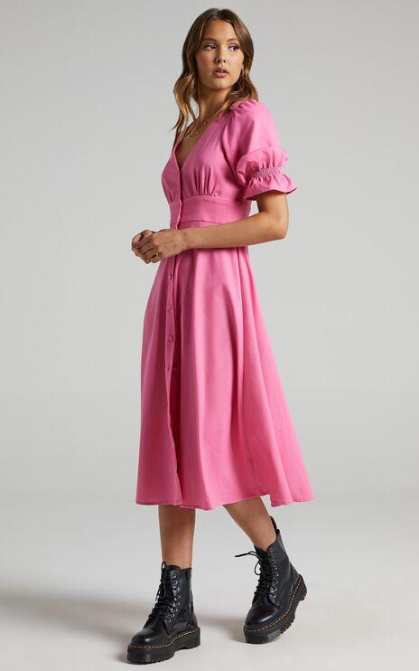 Jaycee Dress in Bubblegum Pink