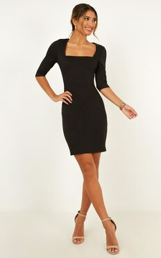 Searching For Love Dress In Black