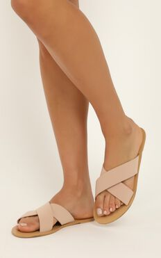 Billini - Majorca Slides In Nude Nubuck