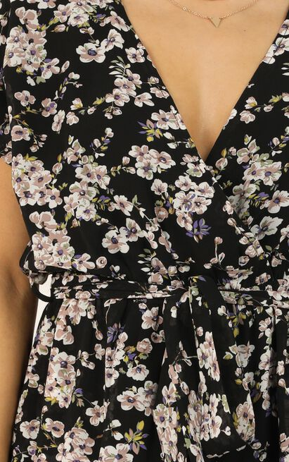 Calm In The Chaos Jumpsuit In black floral - 20 (XXXXL), Black, hi-res image number null