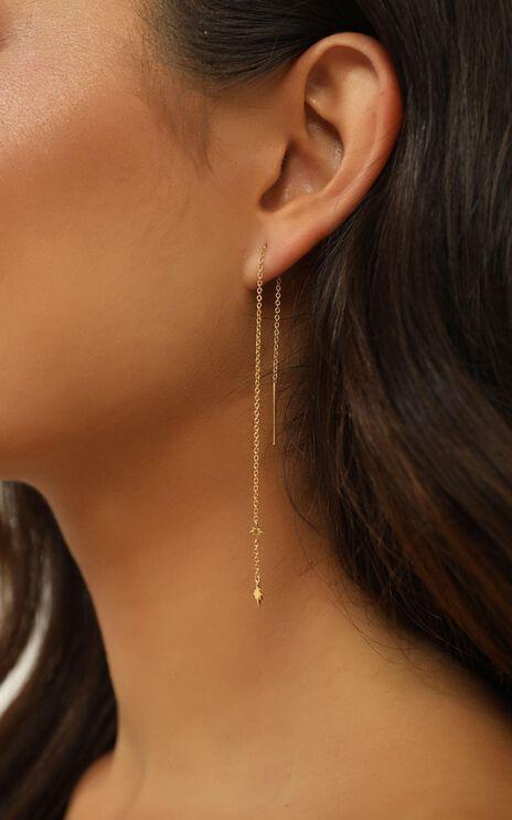 Midsummer Star - Celestial Threader Earrings In Gold