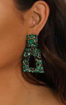 Wanna Go Out Earrings In Emerald