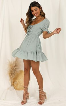 Small Moments Dress In Sage