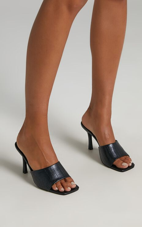Billini - Stormi Heels in Black Croc